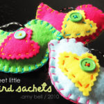 Felt Bird Sachets
