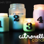 Homemade bug-banishing candles