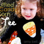 Ruffled Candy Corn Tee