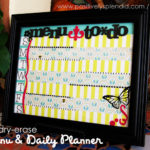 Dry Erase Menu and Daily Planner