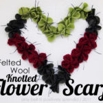 Felt Flower Scarf