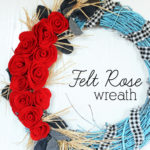 Felt Rose Wreath (Perfect for Valentine's Day!)
