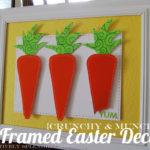 Framed Carrot Easter Decor