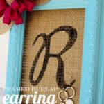 Framed Burlap Earring Holder Tutorial