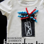Korker Ribbon Firecracker Tee Tutorial