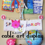 Pottery Barn Inspired Cable Art Display Tutorial