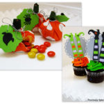Candy-Filled Pumpkin Treats and Bewitching Cupcake Toppers