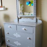 Antique Dresser Transformation + Embellishing Furniture with Vinyl