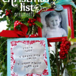 Photo Christmas List Ornament Tutorial