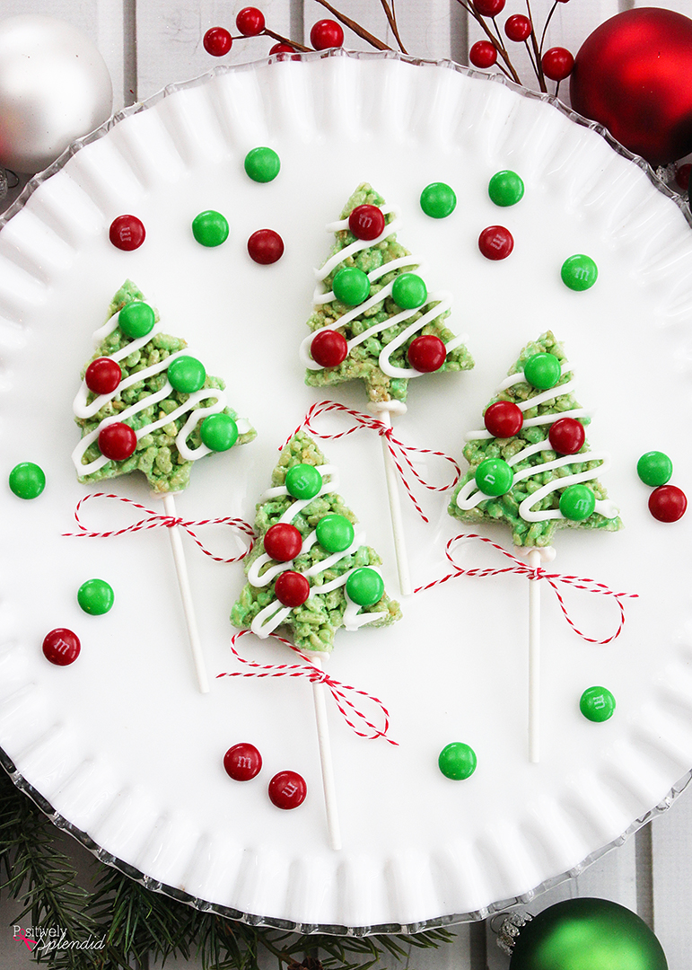Christmas Tree Rice Krispies Treat Pops