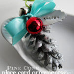 Pine Cone Place Card Ornaments