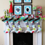 Whimsical Christmas Mantel Decor