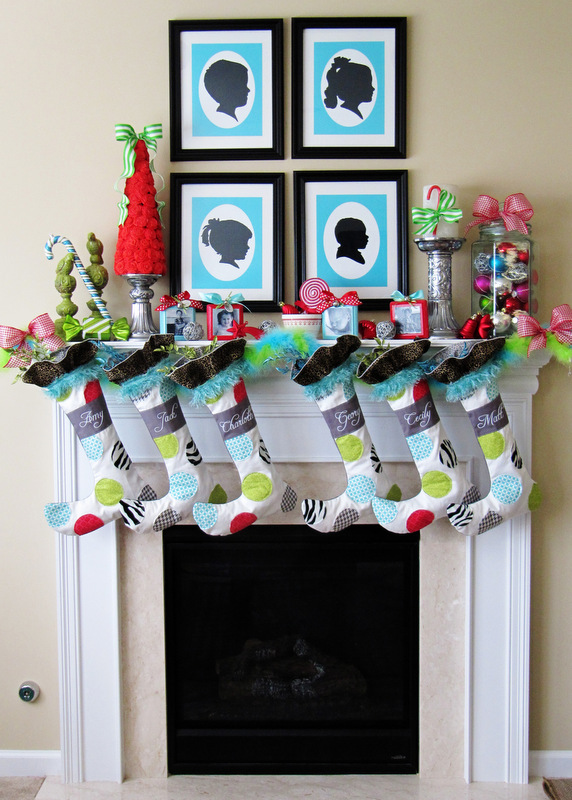 I love all of the whimsical details in this fun Christmas mantel as Positively Splendid!