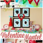 Adorable Valentine's Day mantel decor at PositivelySplendid.com