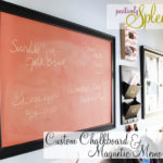 Framed Custom Chalkboard and Magnetic Board