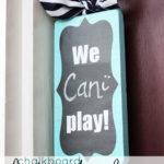 Chalkboard Playtime Door Hanger