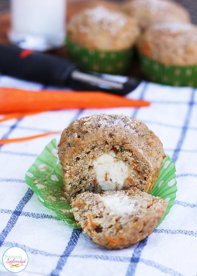 Cream-filled carrot cake muffin recipe