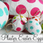 Polka Dotted Plaster Easter Eggs