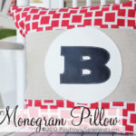 DIY Monogram Pillows with Vinyl Applique