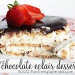 Layered Chocolate Eclair Dessert