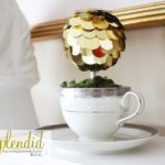Sequin Teacup Topiaries