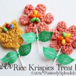 Rice Krispies Treat Flower Pops + Free Printables