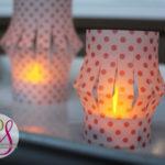 Vellum Tea Light Lanterns (Silhouette Promo Time!)