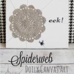 Spiderweb Doily Canvas Art