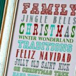 Christmas Subway Art Printable (Swell Noël #3)