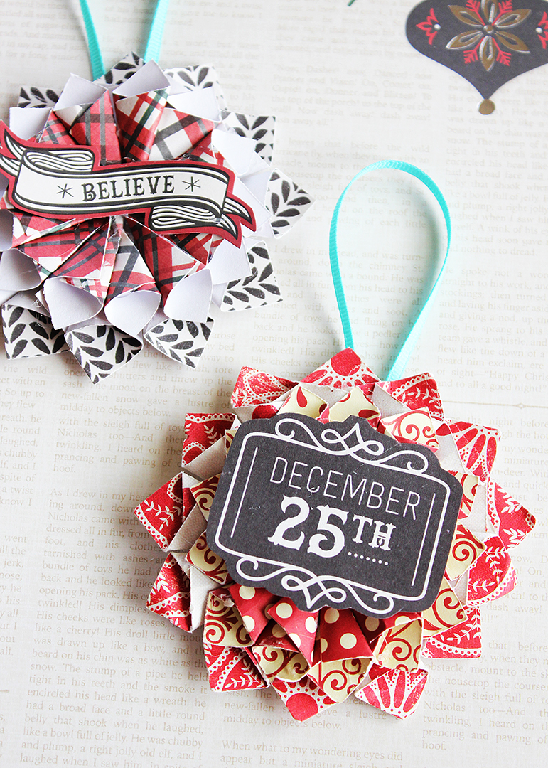 How to Make Rolled Paper Christmas Ornaments