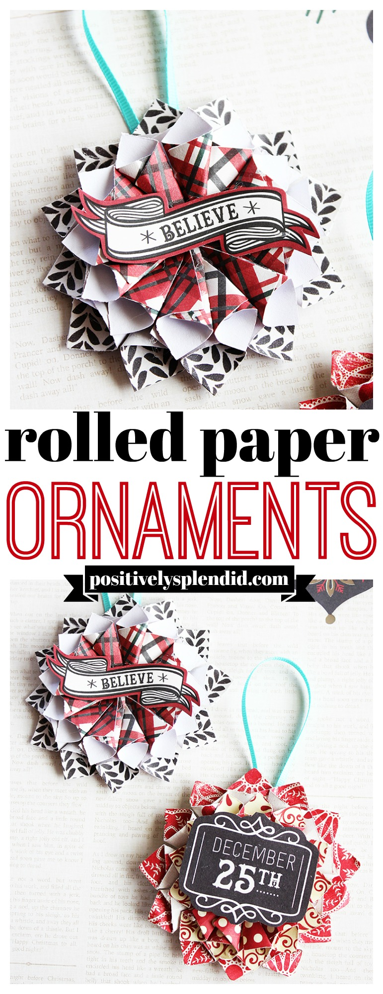 Rolled Paper DIY Christmas Ornaments