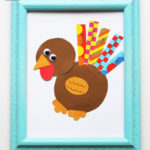 Washi Tape Turkey Craft (Kids' Thanksgiving Idea)