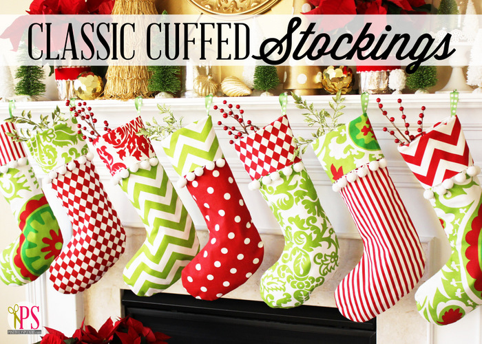 Classic Cuffed Christmas Stocking Pattern
