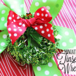 Miniature Tinsel Wreath Craft