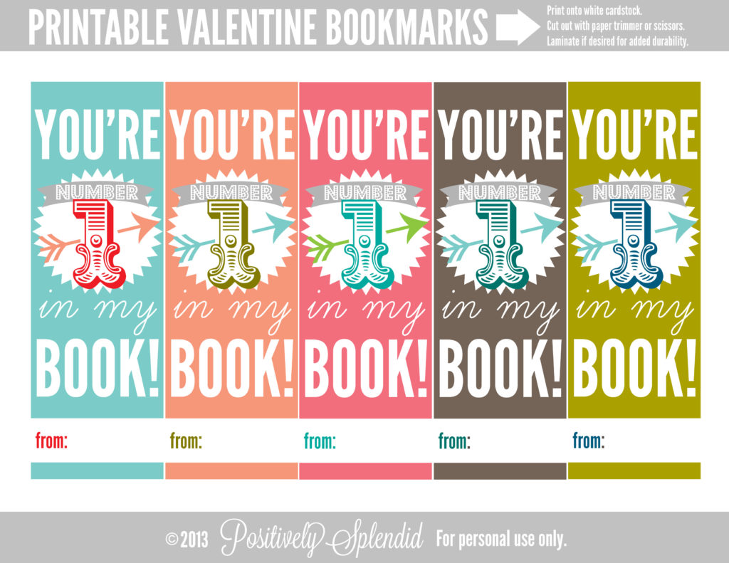 graphic relating to Printable Valentine Bookmarks titled Printable Valentine Bookmarks