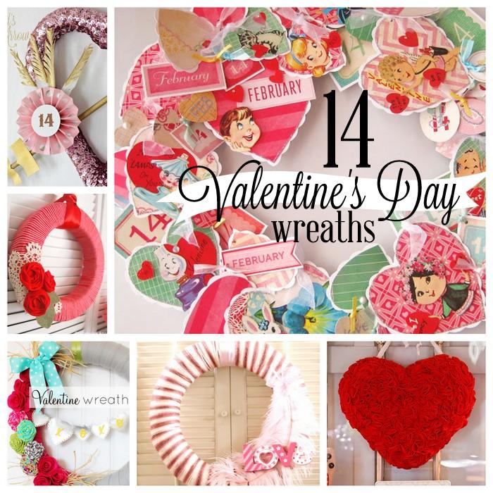 14 Valentine\'s Day Wreaths