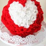 Ruffled Felt Heart Kissing Ball (Valentine Craft Idea)