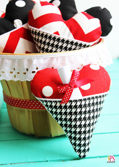 Heart Pocket Pillow And Treat Bag Sewing Pattern And Tutorial