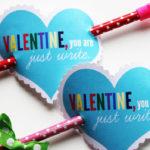 Pencil Arrow Valentines + Free Printable