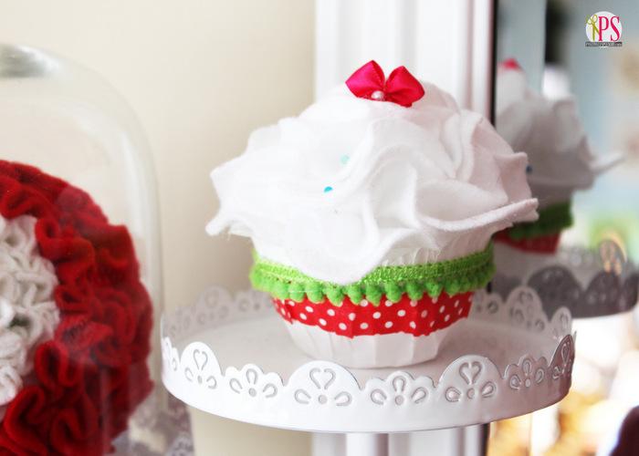 Styrofoam and Felt Cupcake Craft