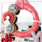 Paper Medallion & Faux Bois Valentine Wreath