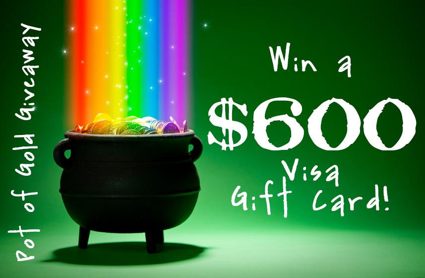 Pot of Gold Giveaway (Win a $600 Visa Gift Card!) :: PositivelySplendidl.com