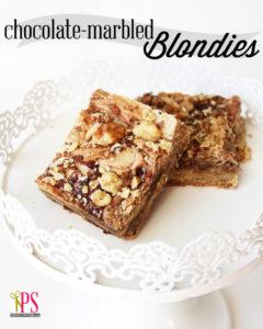 Chocolate-Marbled Blondies