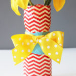 Easy Duct Tape Vase Craft