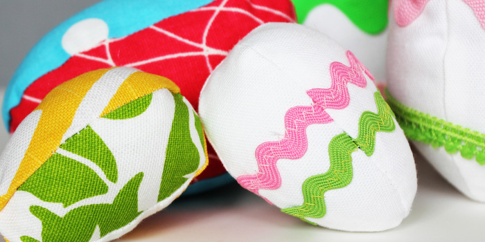 Fabric easter egg craft pattern