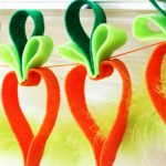 Felt Carrot Garland Easter Craft