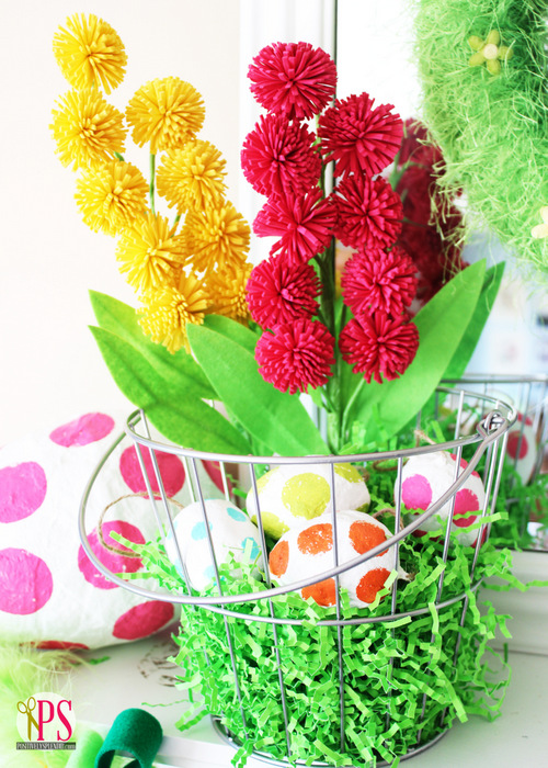 Easter Mantel Decorations :: PositivelySplendid.com