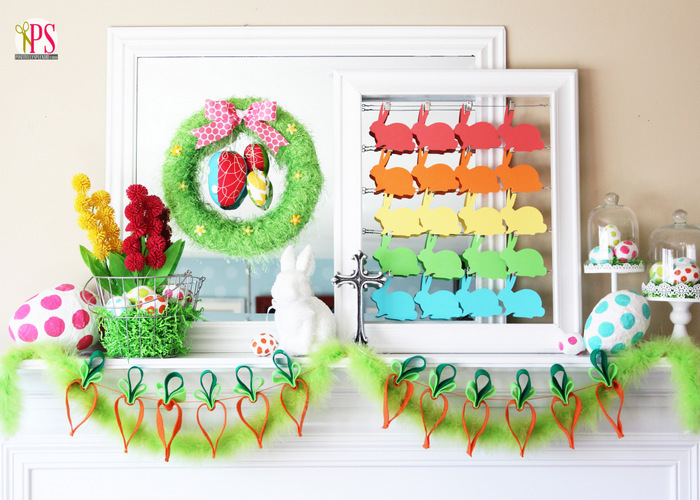 Easter mantel decorations for Diy easter room decor