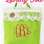 Lace-Embellished Spring Tote