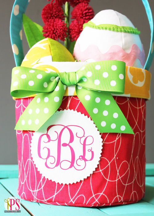 Fabric Easter Basket Pattern :: PositivelySplendid.com